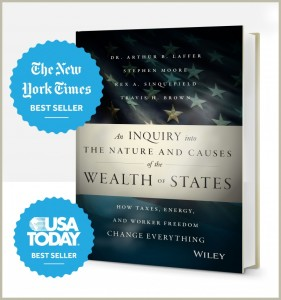"Dr. Laffer is one of the co-authors of ""An Inquiry into the Nature and Causes of the Wealth of States: How Taxes, Energy, and Worker Freedom will Change the Balance of Power Among States"". Click image to read more about thisbok."
